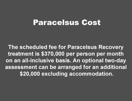 paracelsus recovery cost